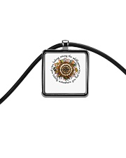 You Belong Among The Wildflowers Cord Rectangle Necklace thumbnail