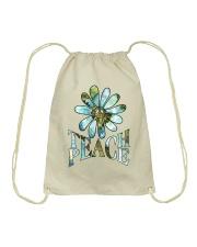 Teach Peace Drawstring Bag thumbnail