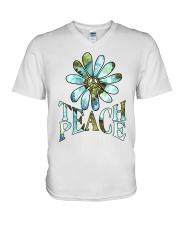 Teach Peace V-Neck T-Shirt thumbnail