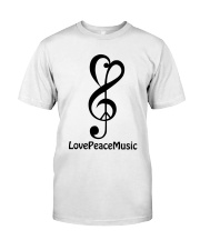 peace love music z Classic T-Shirt front
