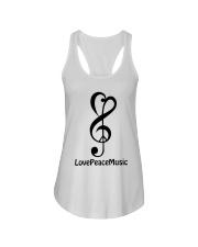 peace love music z Ladies Flowy Tank tile