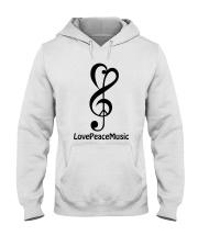peace love music z Hooded Sweatshirt tile