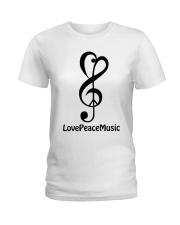 peace love music z Ladies T-Shirt tile