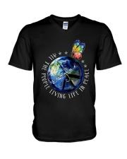 People Living Life In Peace V-Neck T-Shirt thumbnail