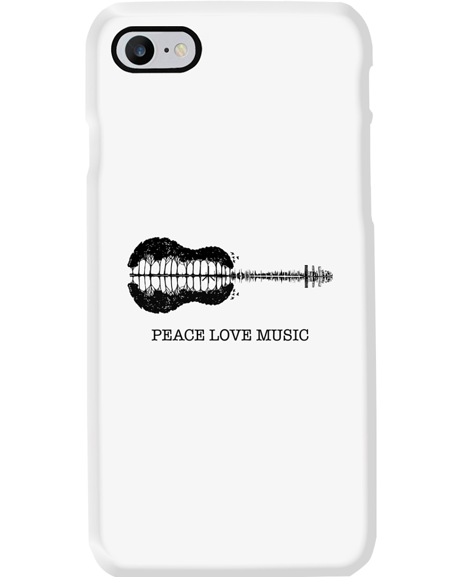 Peace Love Music Peace Tree Guitar Hippie  Phone Case showcase