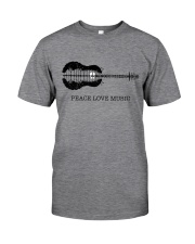 Peace Love Music Peace Tree Guitar Hippie  Classic T-Shirt thumbnail