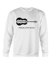 Peace Love Music Peace Tree Guitar Hippie  Crewneck Sweatshirt thumbnail