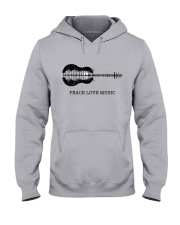 Peace Love Music Peace Tree Guitar Hippie  Hooded Sweatshirt thumbnail