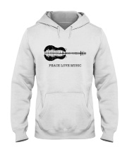 Peace Love Music Peace Tree Guitar Hippie  Hooded Sweatshirt front