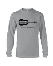Peace Love Music Peace Tree Guitar Hippie  Long Sleeve Tee thumbnail