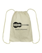 Peace Love Music Peace Tree Guitar Hippie  Drawstring Bag thumbnail