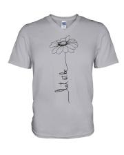 Let It Be Flower Hippie Music  V-Neck T-Shirt thumbnail
