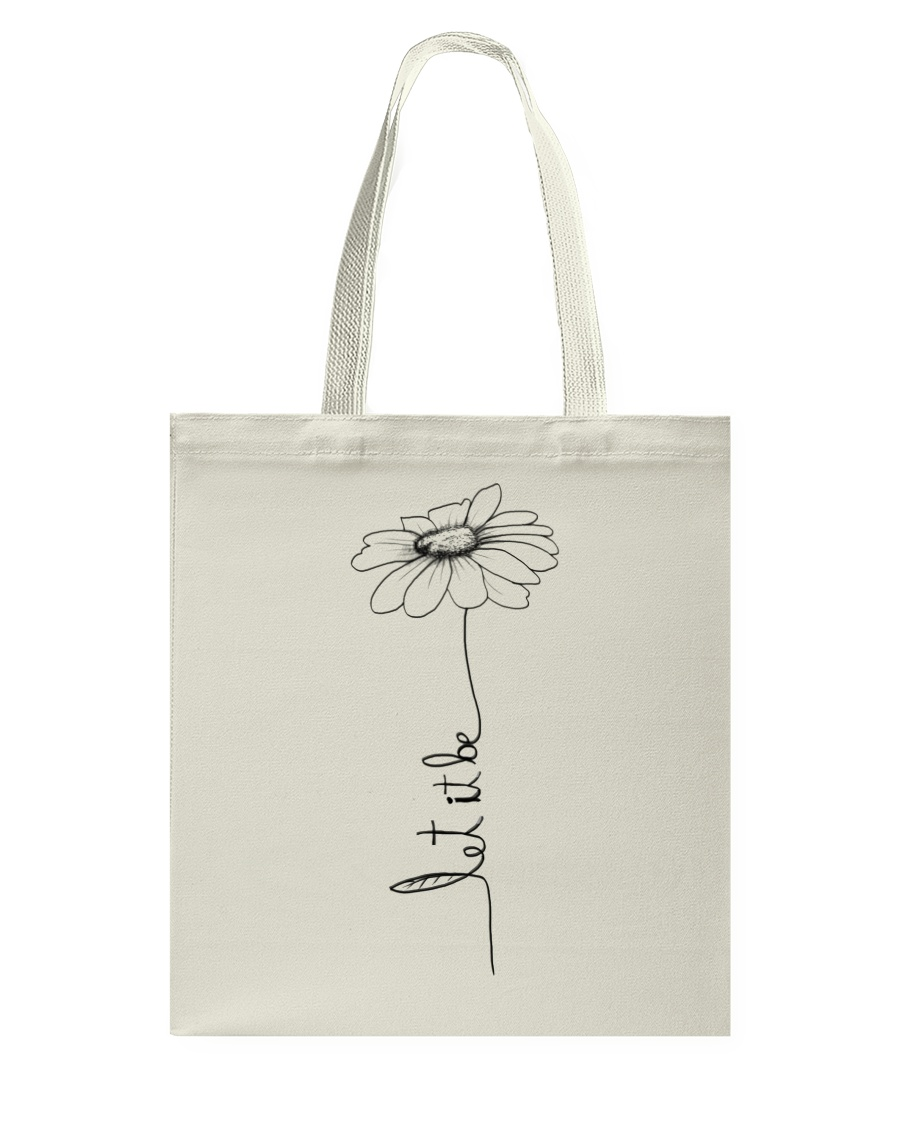 Let It Be Flower Hippie Music  Tote Bag