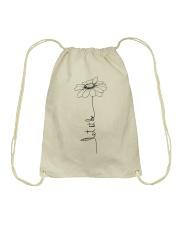 Let It Be Flower Hippie Music  Drawstring Bag thumbnail