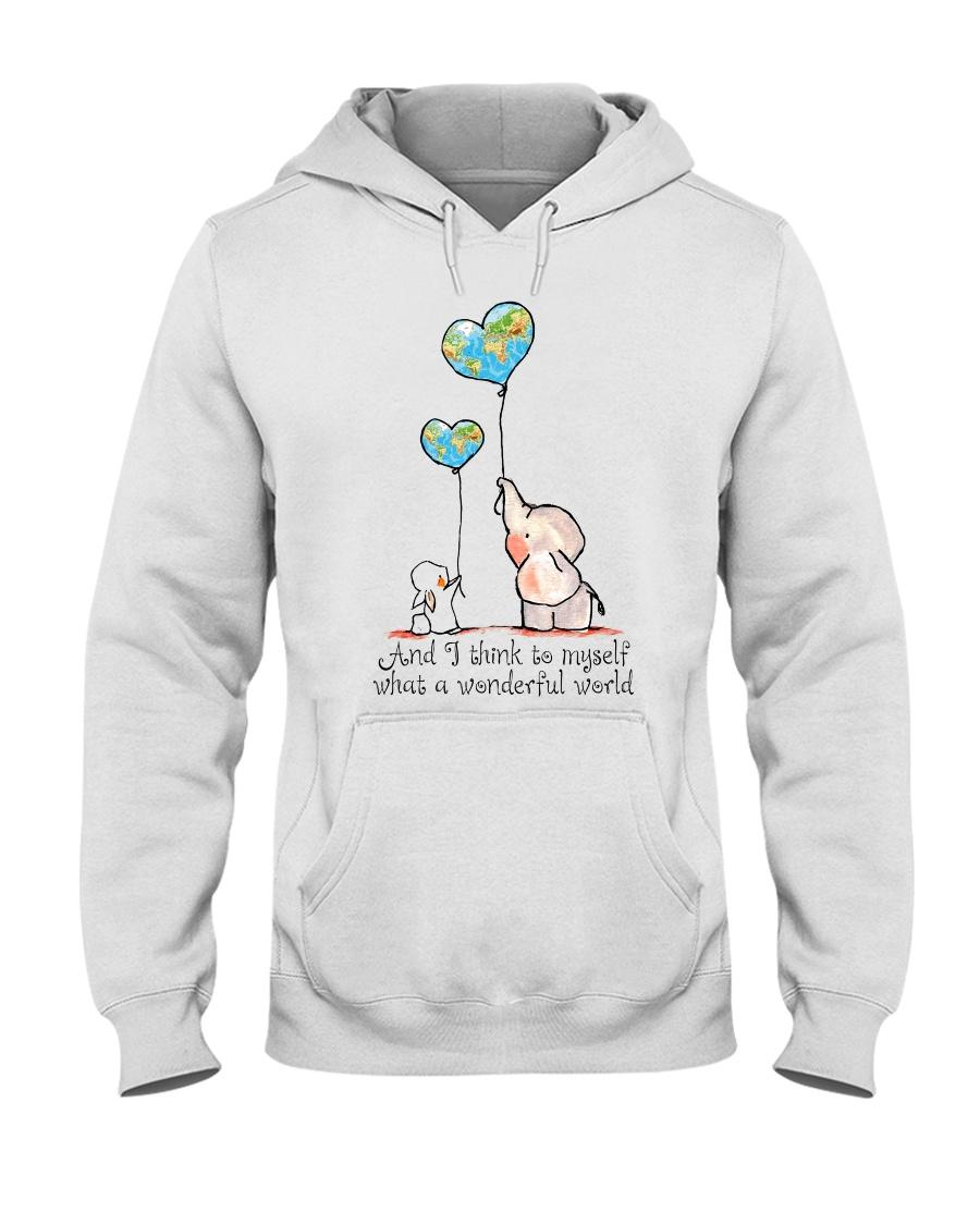 Myself What A Wonderful World Hooded Sweatshirt