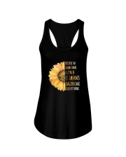Believe In Something Flower Hippie Ladies Flowy Tank tile