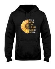 Believe In Something Flower Hippie Hooded Sweatshirt thumbnail