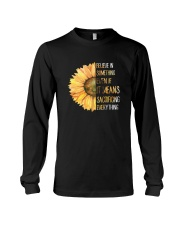 Believe In Something Flower Hippie Long Sleeve Tee tile