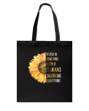 Believe In Something Flower Hippie Tote Bag thumbnail