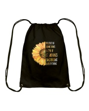Believe In Something Flower Hippie Drawstring Bag tile