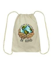 Be Kind In A World Drawstring Bag thumbnail