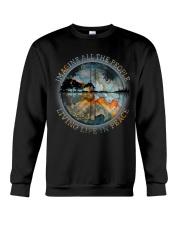 People Living Life In Peace Crewneck Sweatshirt thumbnail