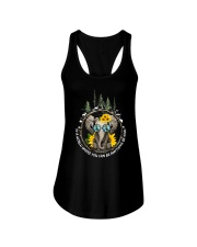 Be Kind In A World Ladies Flowy Tank thumbnail