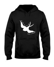 She Rules Her Life Like A Bird Hooded Sweatshirt thumbnail