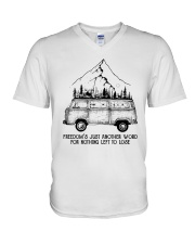 Freedom Is Just Another World V-Neck T-Shirt thumbnail