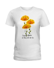 I Paint Flowers Ladies T-Shirt thumbnail