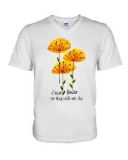 I Paint Flowers V-Neck T-Shirt thumbnail
