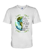 You Can Shake The World V-Neck T-Shirt thumbnail