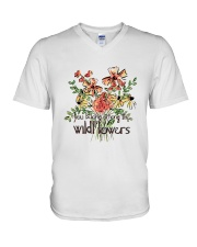 You Belong Among The Wildflowers V-Neck T-Shirt tile