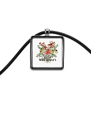 You Belong Among The Wildflowers Cord Rectangle Necklace tile