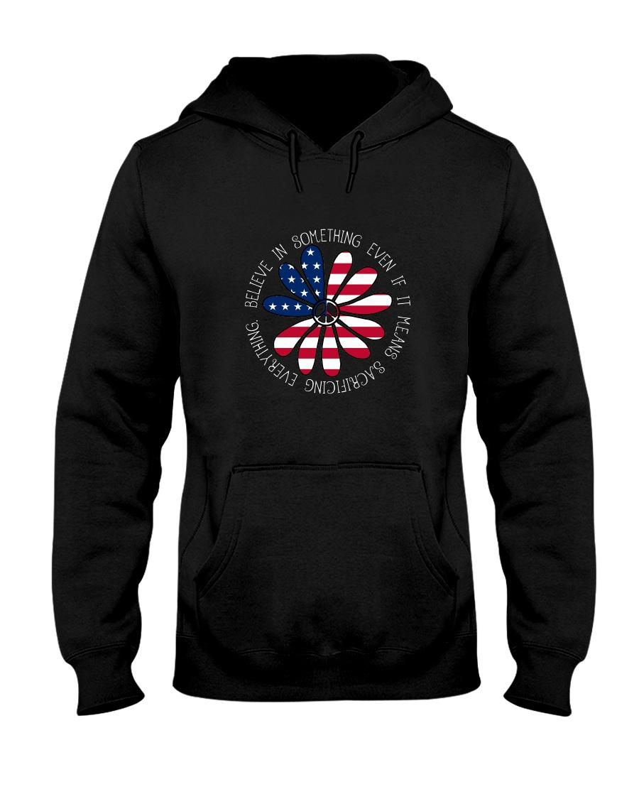 Belive In Something Hippie Hooded Sweatshirt