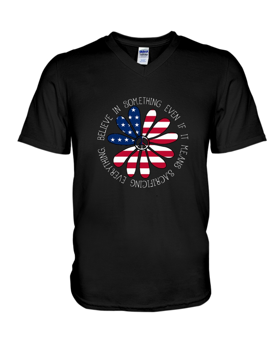 Belive In Something Hippie V-Neck T-Shirt