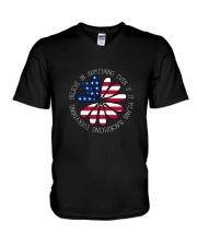 Belive In Something Hippie V-Neck T-Shirt front