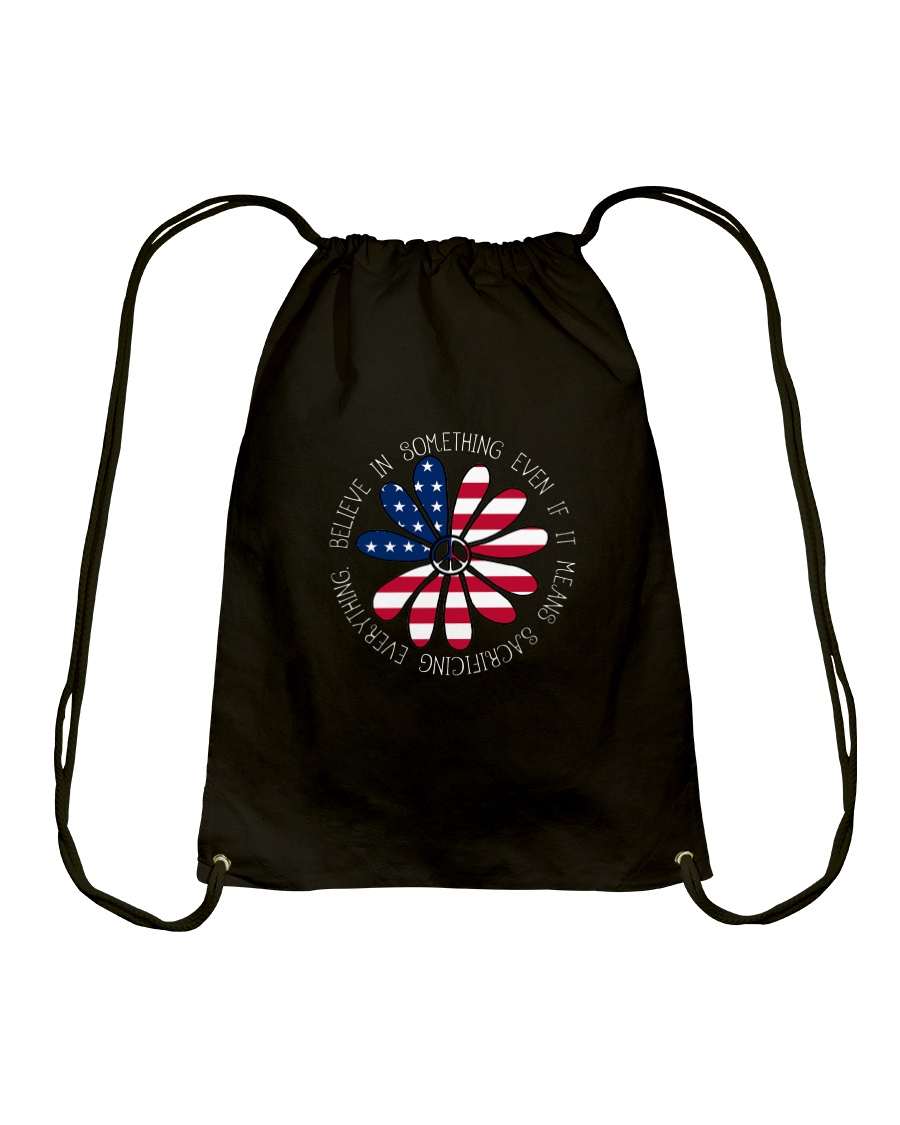 Belive In Something Hippie Drawstring Bag