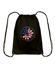 Belive In Something Hippie Drawstring Bag front