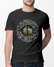 What A Wonderful World Classic T-Shirt lifestyle-mens-crewneck-front-13