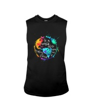 Be Kind In A World Sleeveless Tee thumbnail
