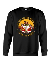 Living Life In Peace Crewneck Sweatshirt thumbnail
