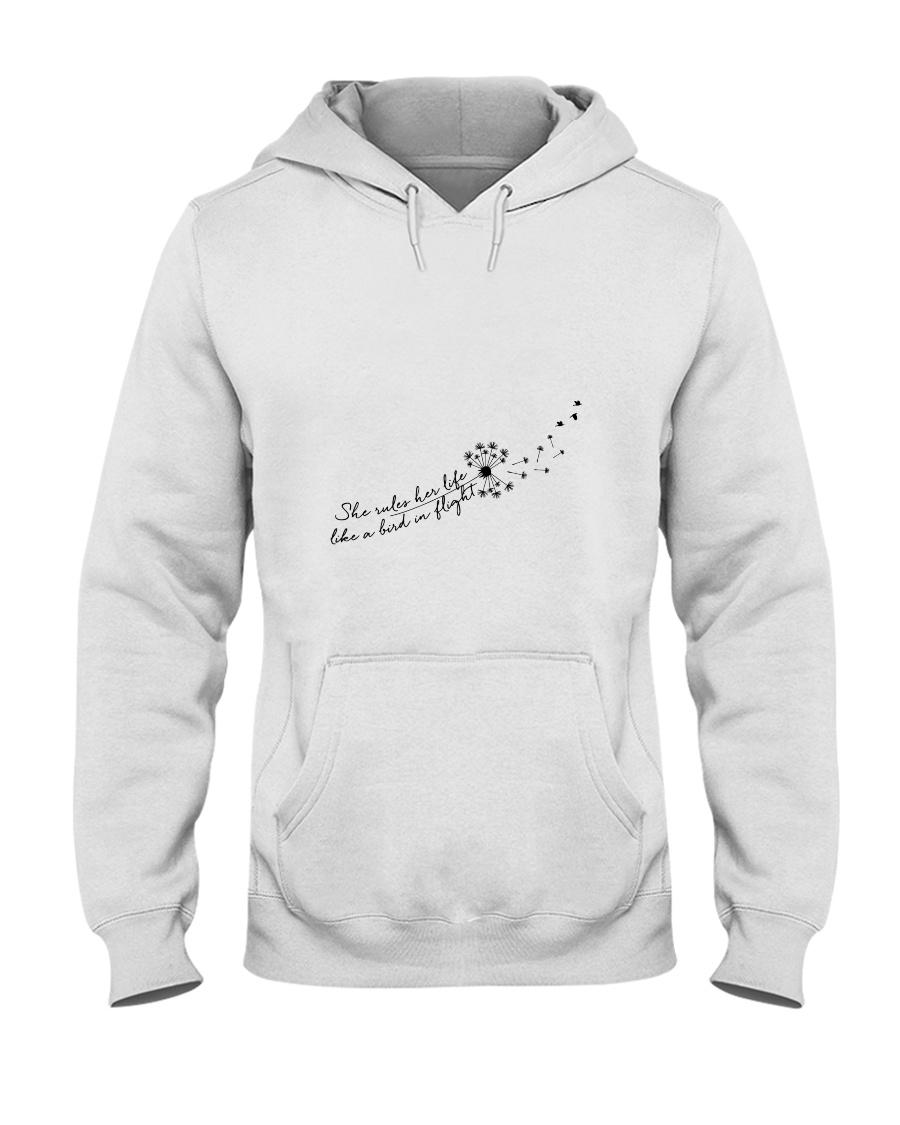 Her Life Like A Bird In Flight Hooded Sweatshirt