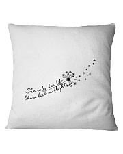 Her Life Like A Bird In Flight Square Pillowcase thumbnail