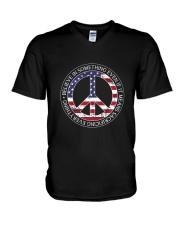 Belive In Something Hippie V-Neck T-Shirt thumbnail