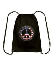 Belive In Something Hippie Drawstring Bag thumbnail