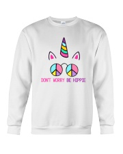Dont Worry Be Hippie Crewneck Sweatshirt thumbnail