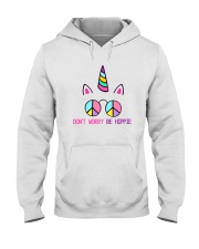 Dont Worry Be Hippie Hooded Sweatshirt tile