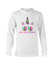 Dont Worry Be Hippie Long Sleeve Tee thumbnail