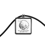 Blackbird Singing Cord Rectangle Necklace thumbnail